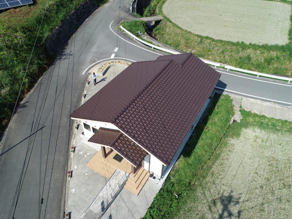 新築屋根工事 南関町 公民館