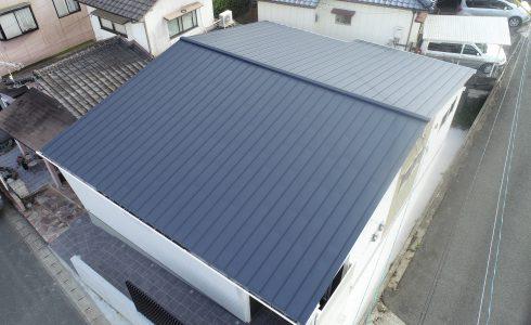 玉名市 ガルバリウム鋼板 新築工事 完成01