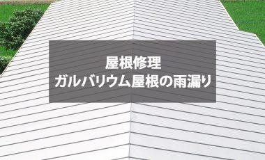 【熊本・菊池市】ガルバリウム屋根の雨漏り修理