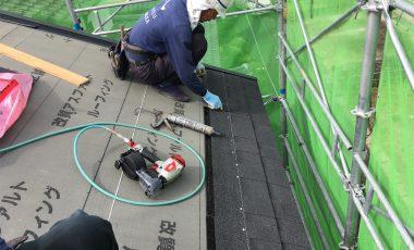 【熊本・城南】新築のアスファルト・シングル屋根工事