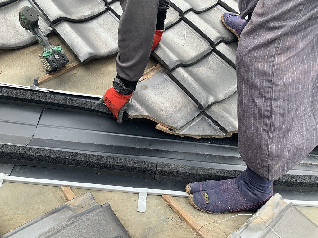 熊本県東区 城北瓦の雨漏り修理