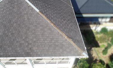 【熊本・荒尾市】コロニアル(スレート化粧板)の隅棟の屋根修理