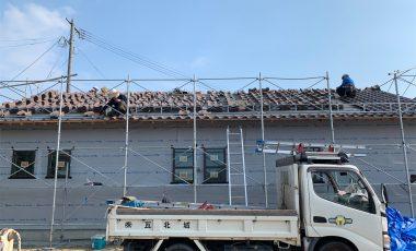 【熊本・嘉島町】陶器瓦を使った新築の瓦工事