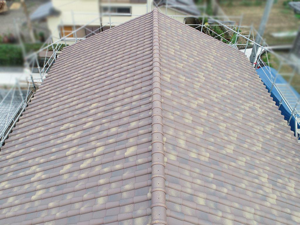 城城北瓦の新築屋根工事 嘉島