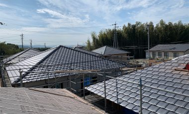 【熊本・御船町】陶器瓦による熊本震災復興の瓦工事