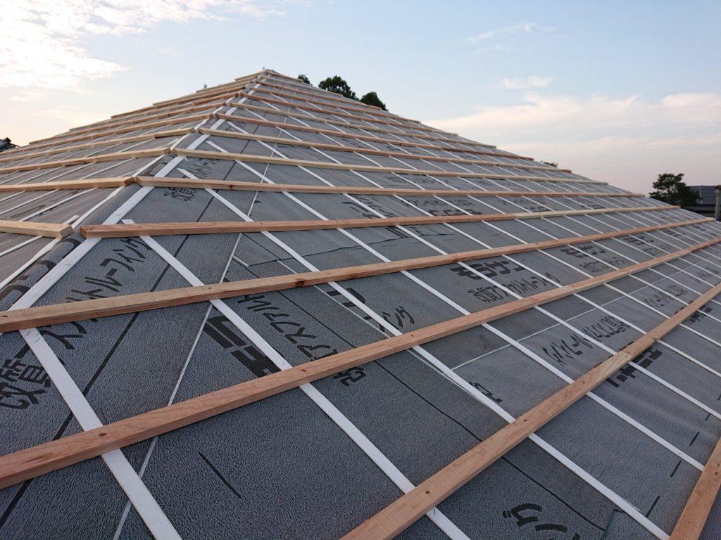 城北瓦の新築屋根工事 御船