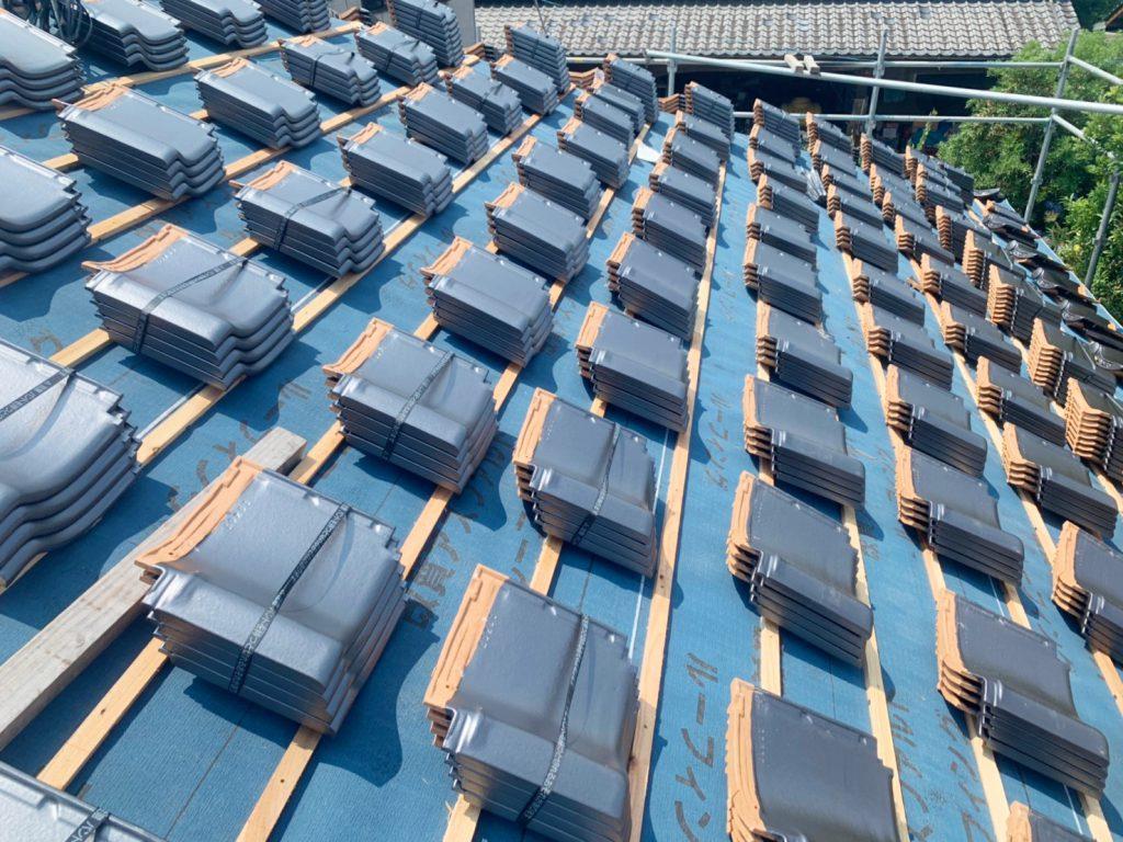 城北瓦の新築屋根工事 植木