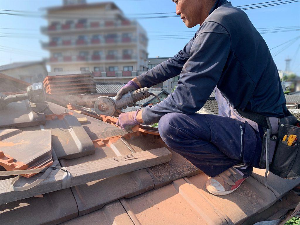 城北瓦の屋根リフォーム工事 山鹿市
