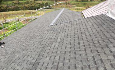 【熊本・上益城郡】新築のアスファルト・シングル屋根工事