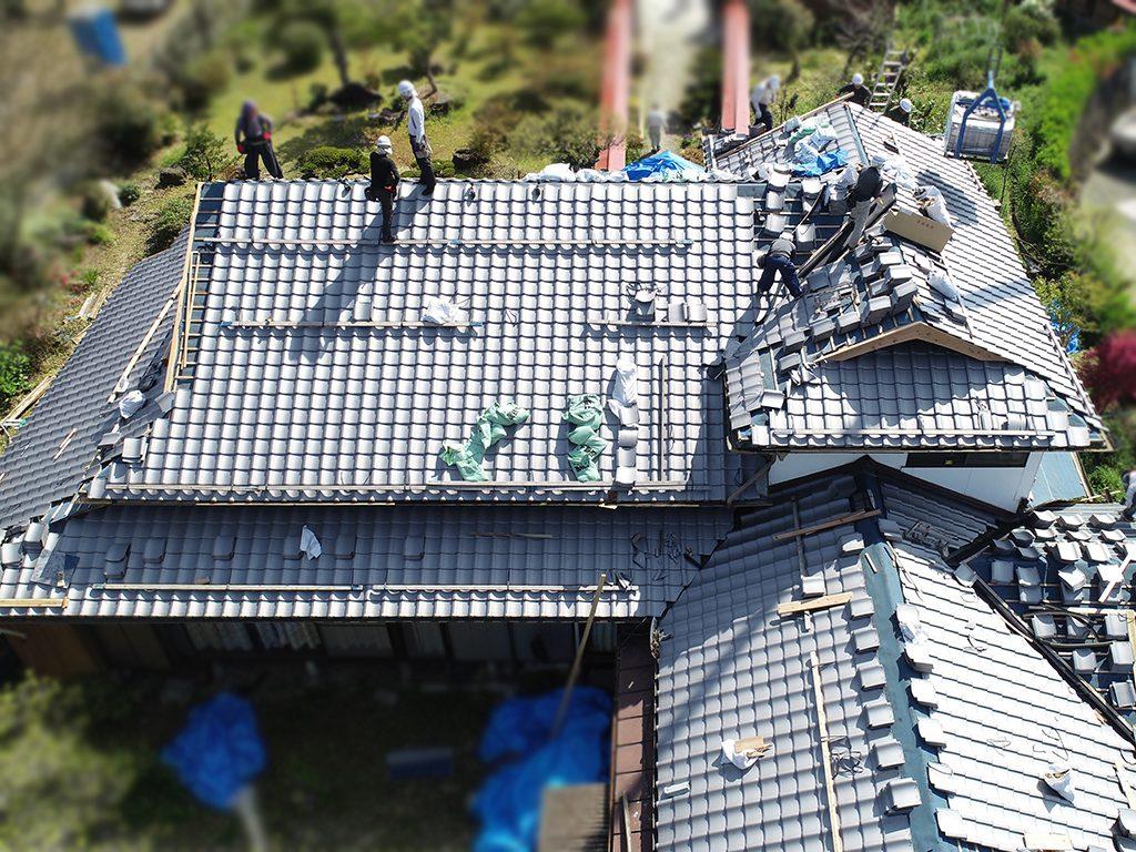 城北瓦の屋根葺き替え