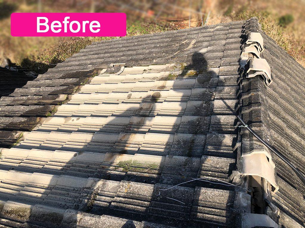 城北瓦の屋根葺き替え 熊本市西区 ビフォー