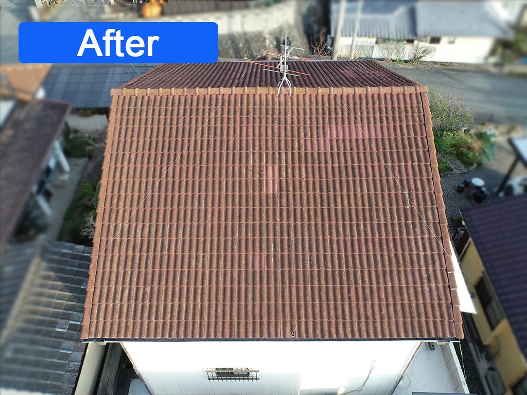 城北瓦の長洲の屋根修理後