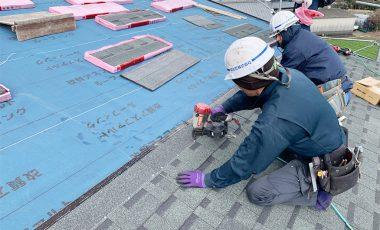 【熊本・下益城】新築のアスファルト・シングル屋根工事