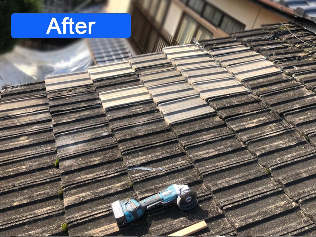 城北瓦の雨漏り屋根修理