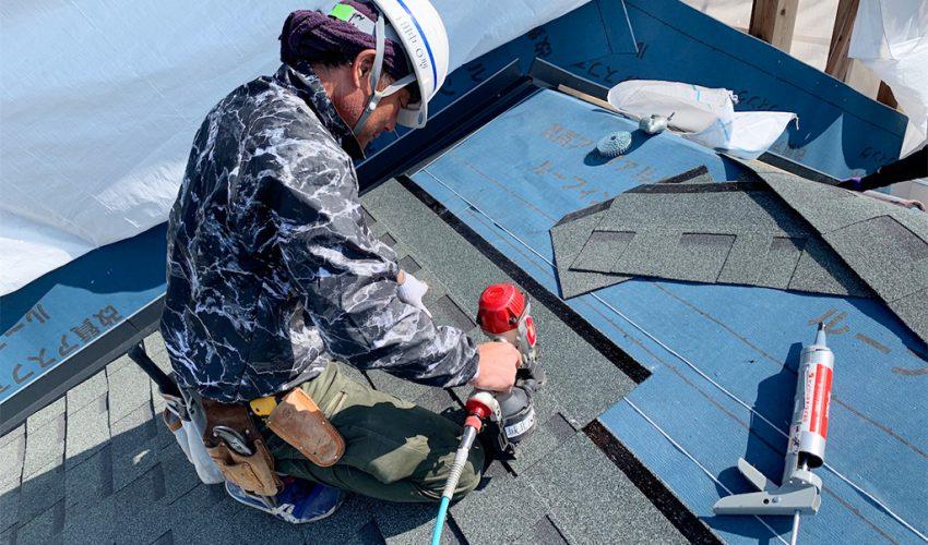 城北瓦の熊本市東区 オークリッジプロ シングル 新築屋根工事