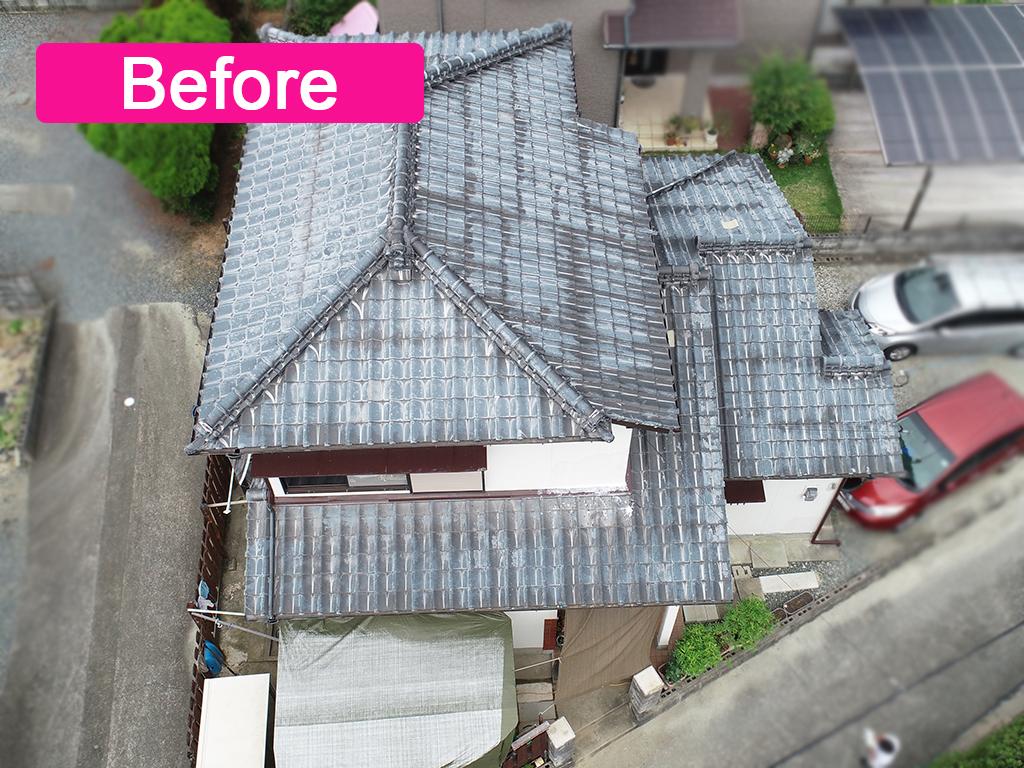 城北瓦の屋根リフォーム工事 熊本、荒尾市 栄四郎プラウドUU使用